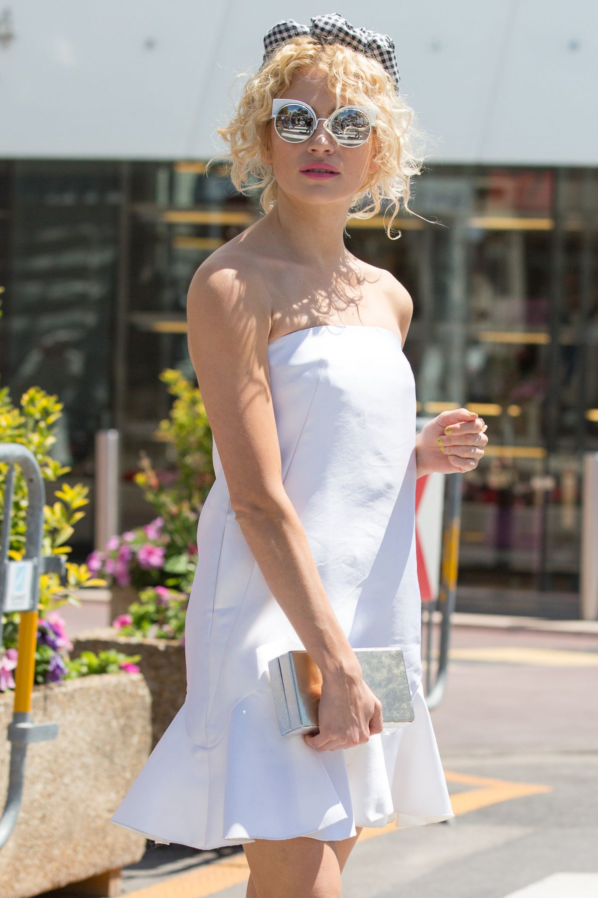 PIXIE LOTT Leaves Martinez Hotel in Cannes 05/15/2016