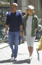 Pregnant BAR REFAELI Out and About in Barcelona 05/26/2016