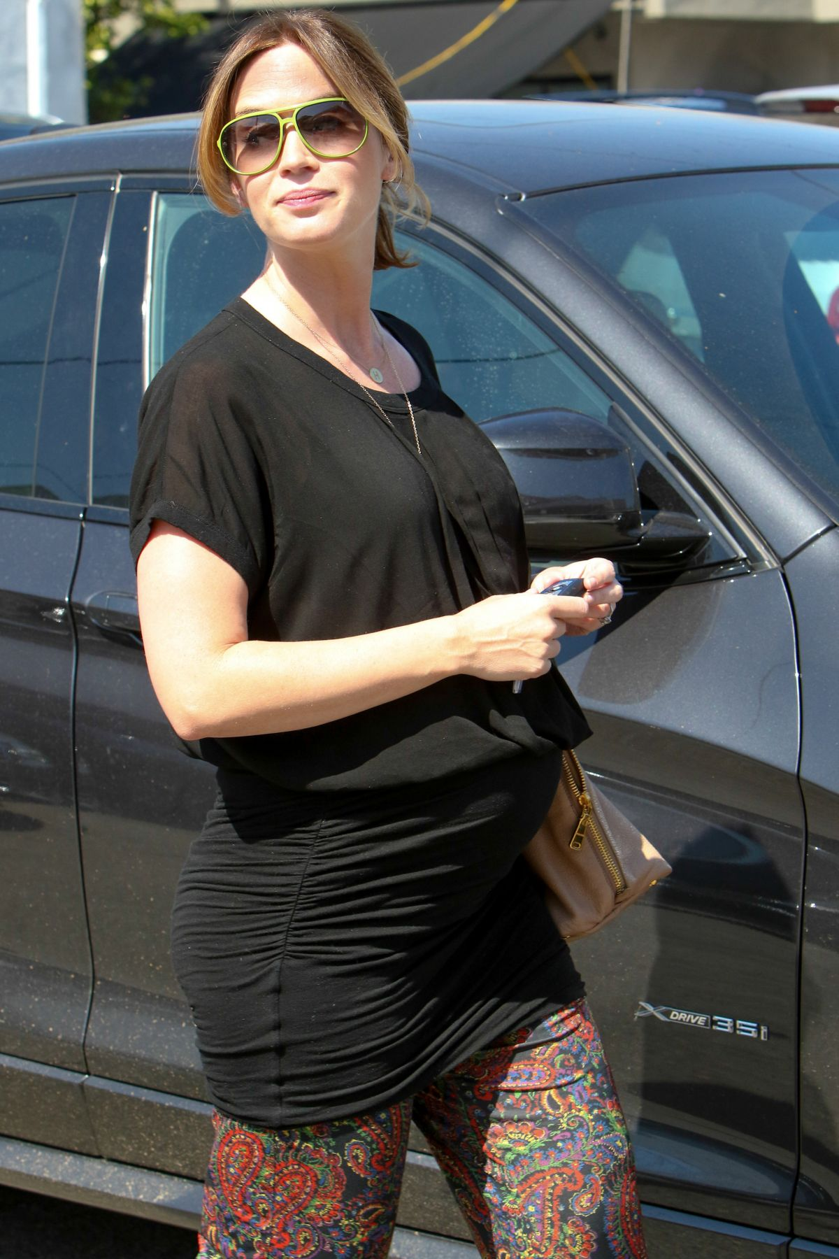 Pregnant EMILY BLUNT at a Salon in West Hollywood 05/27/2016