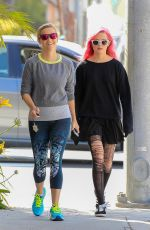 REESE WITHERSPOON and AVA PHILLIPE Out in Santa Monica 05/03/2016