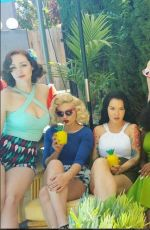 RENEE OLSTEAD at Pinup Girl Clothing Pool Party Photoshoot 05/18/2016
