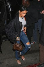 RIHANNA Leaves Her Concert in Los Angeles 05/05/2016