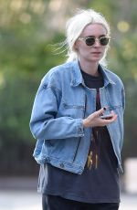 ROONEY MARA with Her New Blonde Hair Out in New York City 05/26/2016