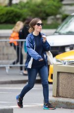 ROSE BYRNE Out and About in New York 05/07/2016