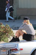 ROSIE HUNTIGNTON-WHITELEY on the Set of a Photoshoot in Los Angeles 05/26/2016