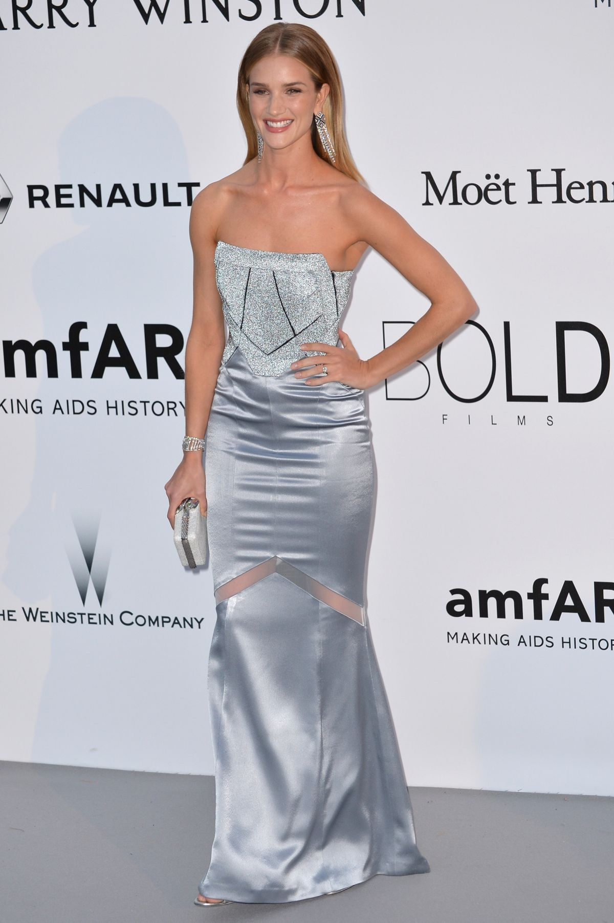 ROSIE HUNTINGTON-WHITELEY at Amfar's 23rd Cinema Against Aids Gala in Antibes 05/19/2016