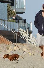 ROSIE HUNTINGTON-WHITELEY on the Beach in Malibu 05/29/2016
