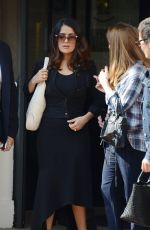 SALMA HAYEK Out and About in Cannes 05/16/2016