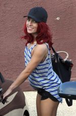 SHARNA BURGESS Leaves DWTS Rehersal in Hollywood 05/03/2016