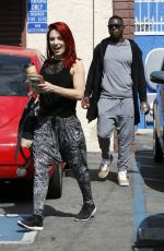 SHARNA BURGESS Leaves DWTS Studio in Hollywood 04/30/2016