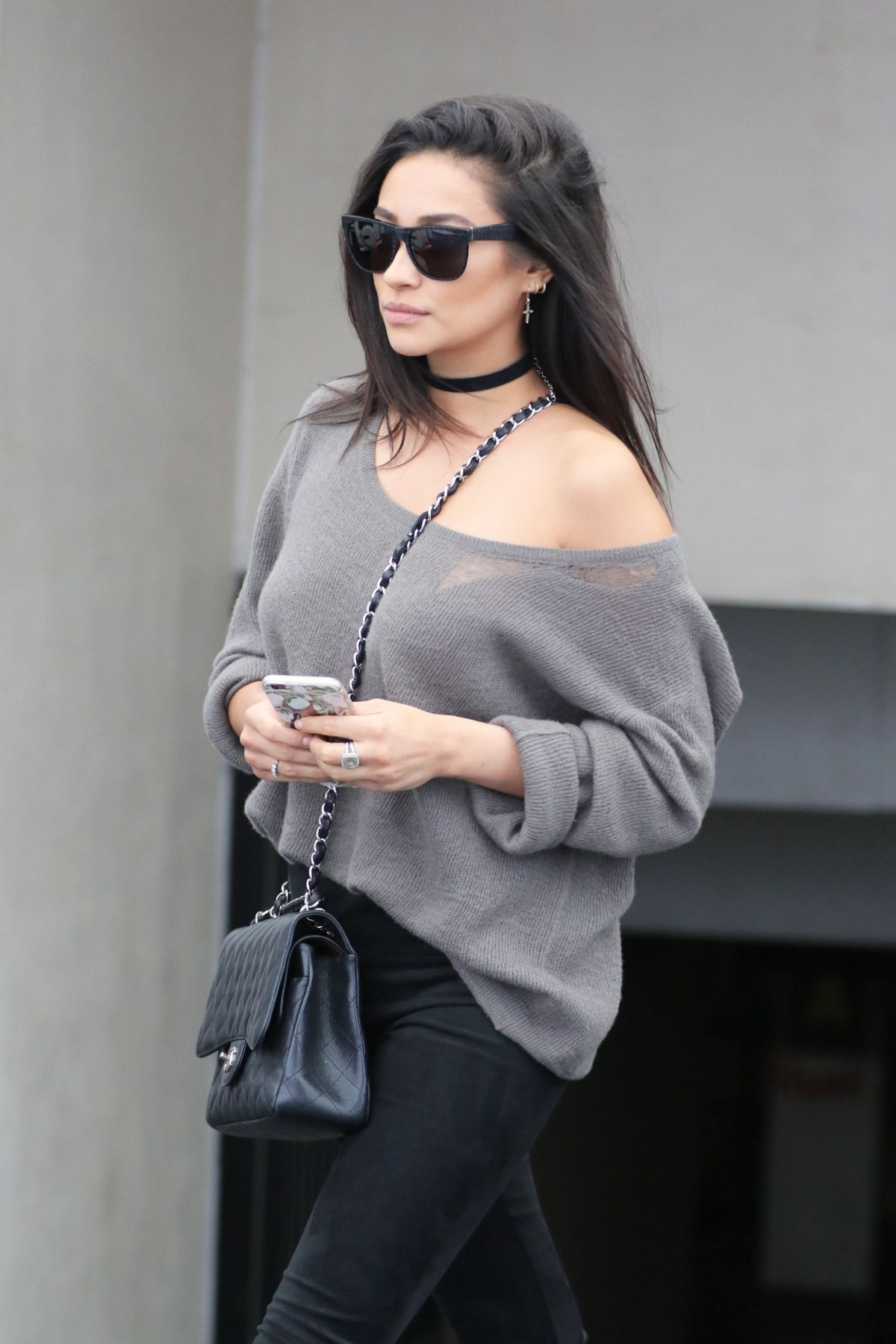 SHAY MITCHELL at Il Pastaio in Beverly Hills 05/07/2016