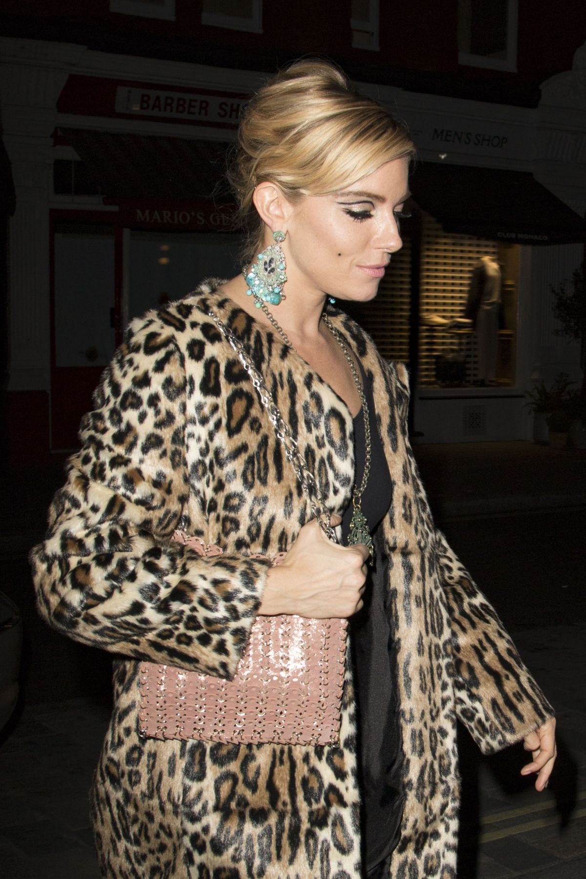 SIENNA MILLER at Poppy Delevingne's 30th Birthday Party in London