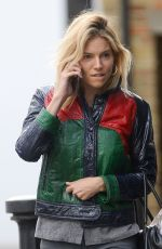 SIENNA MILLER Out in London 04/29/2016