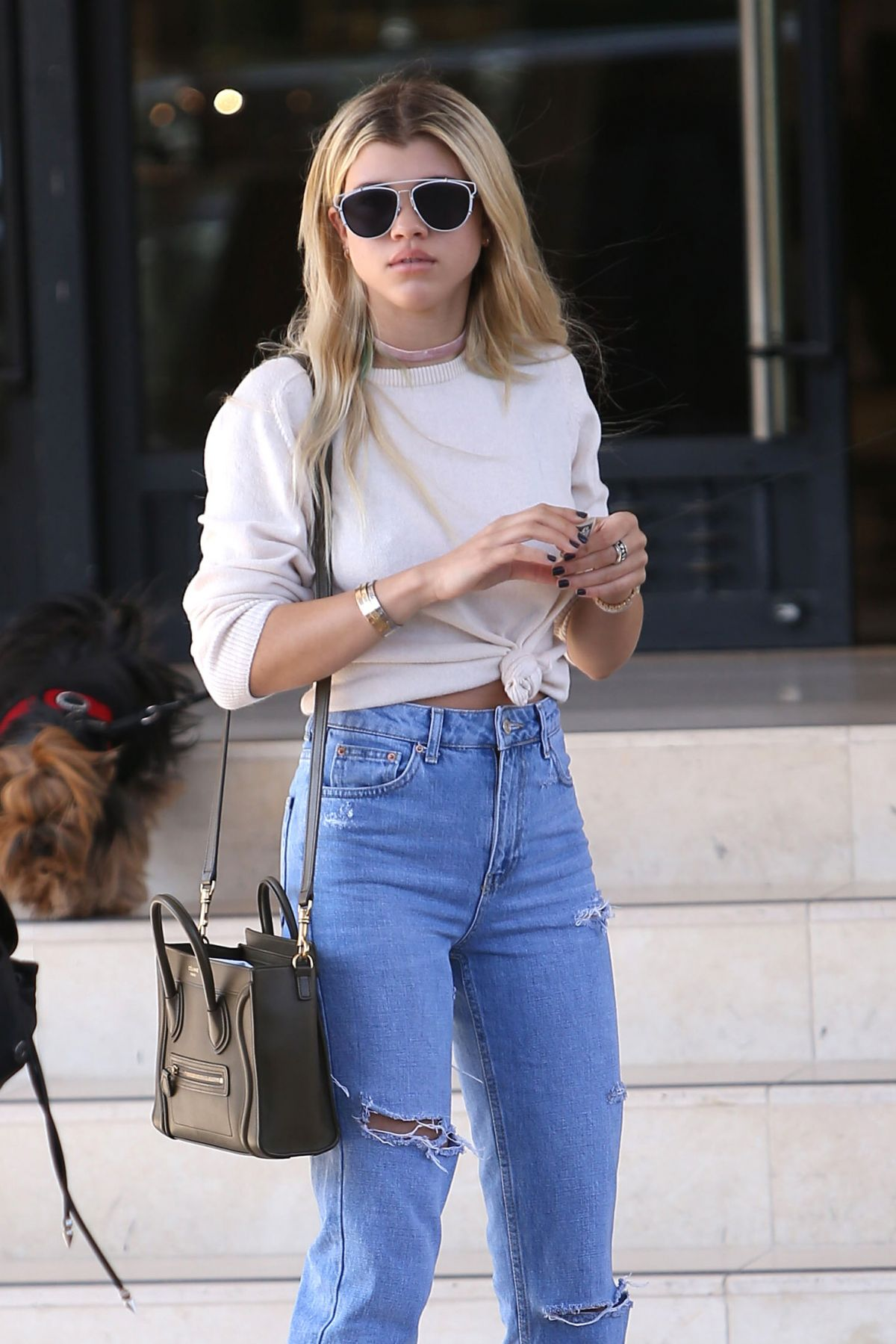 SOFIA RICHIE Leaves Barney