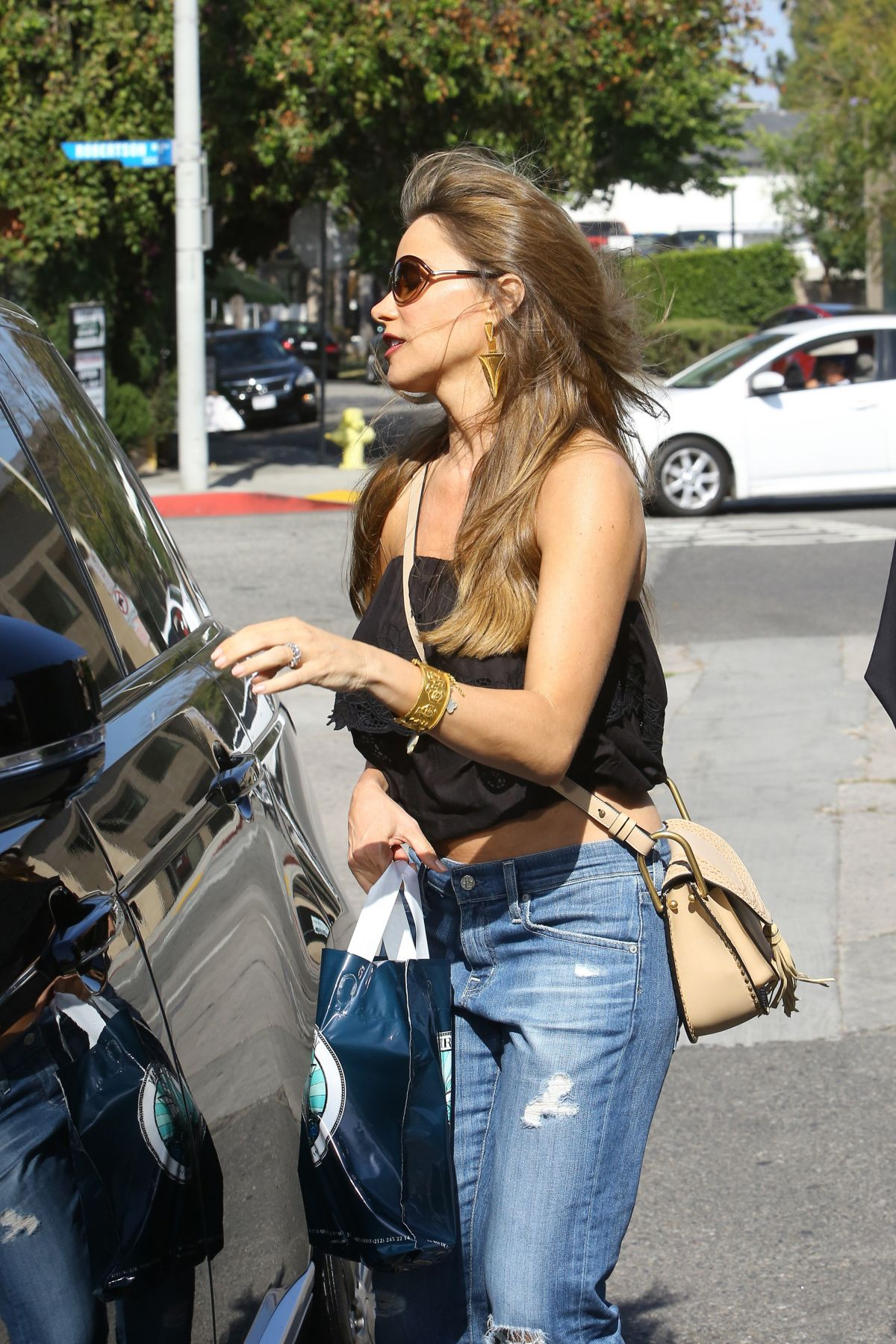 SOFIA VERGARA Out in West Hollywood 05/27/2016