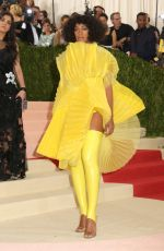 SOLANGE KNOWLES at Costume Institute Gala 2016 in New York 05/02/2016