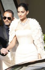 SONAM KAPOOR Out and About in Cannes 05/16/2016