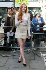 SOPHIE TURNER Arrives at BBC Radio in London 05/06/2016
