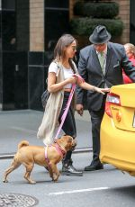 STELLA MAEVE Walks Her Dog Out in New York 05/19/2016