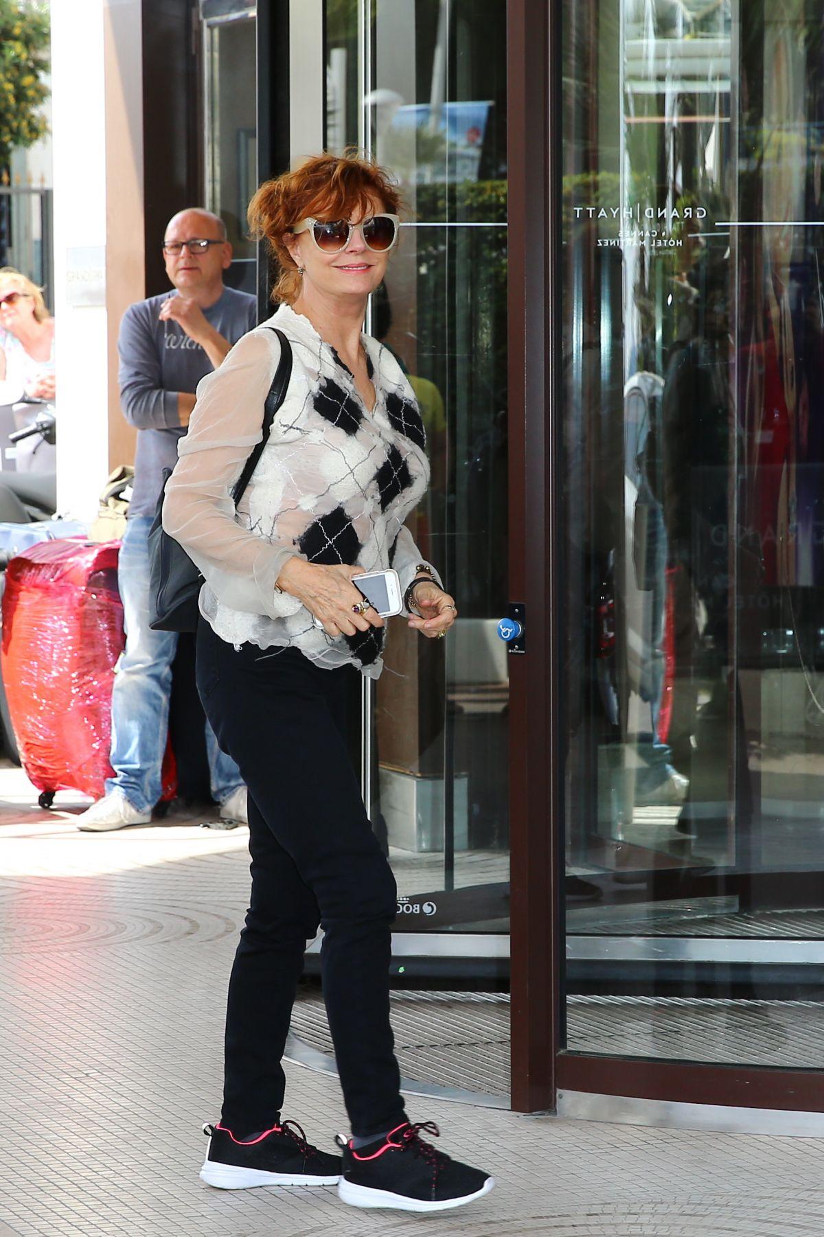 SUSAN SARADON at Hotel Martinez in Cannes 05/10/2016