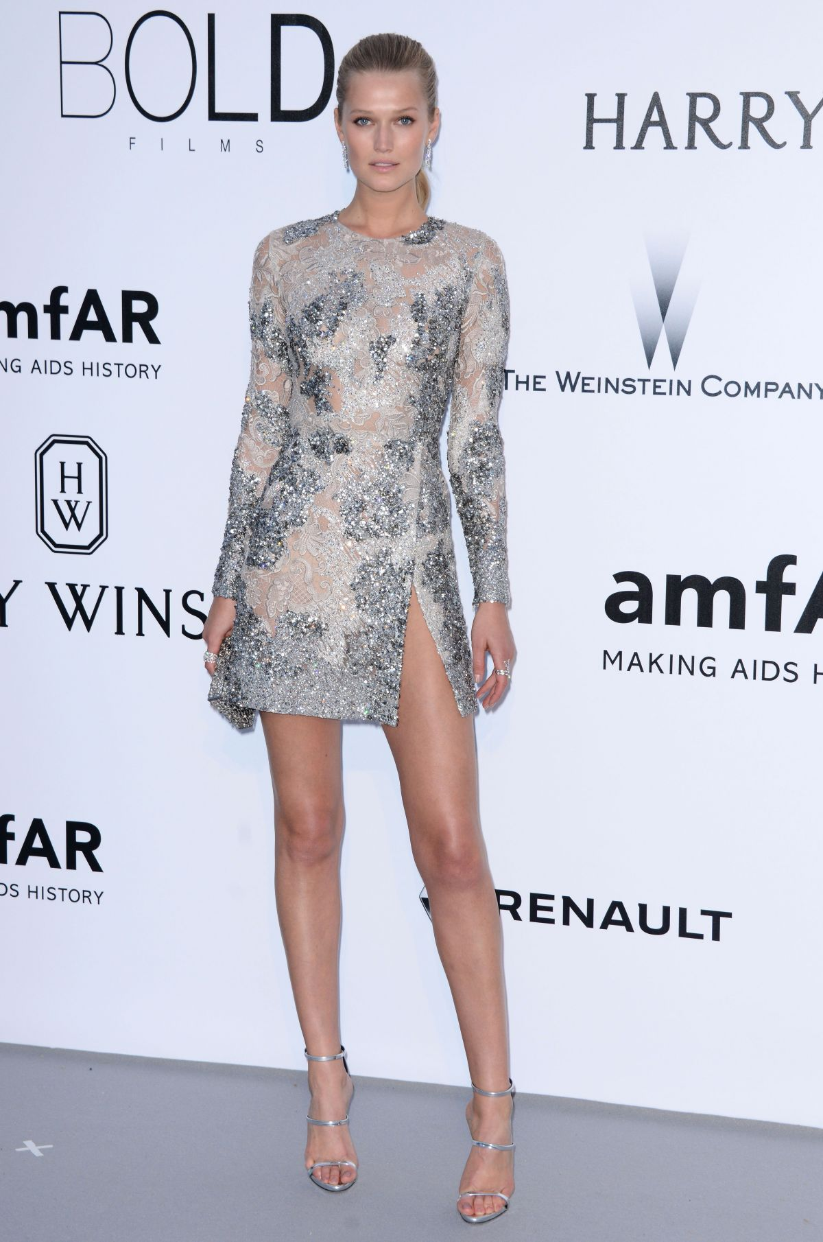 TONI GARRN at Amfar's 23rd Cinema Against Aids Gala in Antibes 05/19/2016