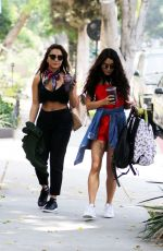 VANESSA and STELLA HUDGENS Out in West Hollywood 005/13/2016