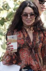 VANESSA HUDGENS out for Coffee at Alfred Coffee in West Hollywood 05/20/2016