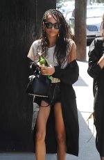 ZOE KRAVITZ Out for Lunch in Los Angeles05/26/2016