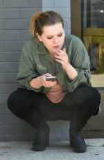 ABIGAIL BRESLIN Smoking Outside Look in West Hollywood 06/25/2016