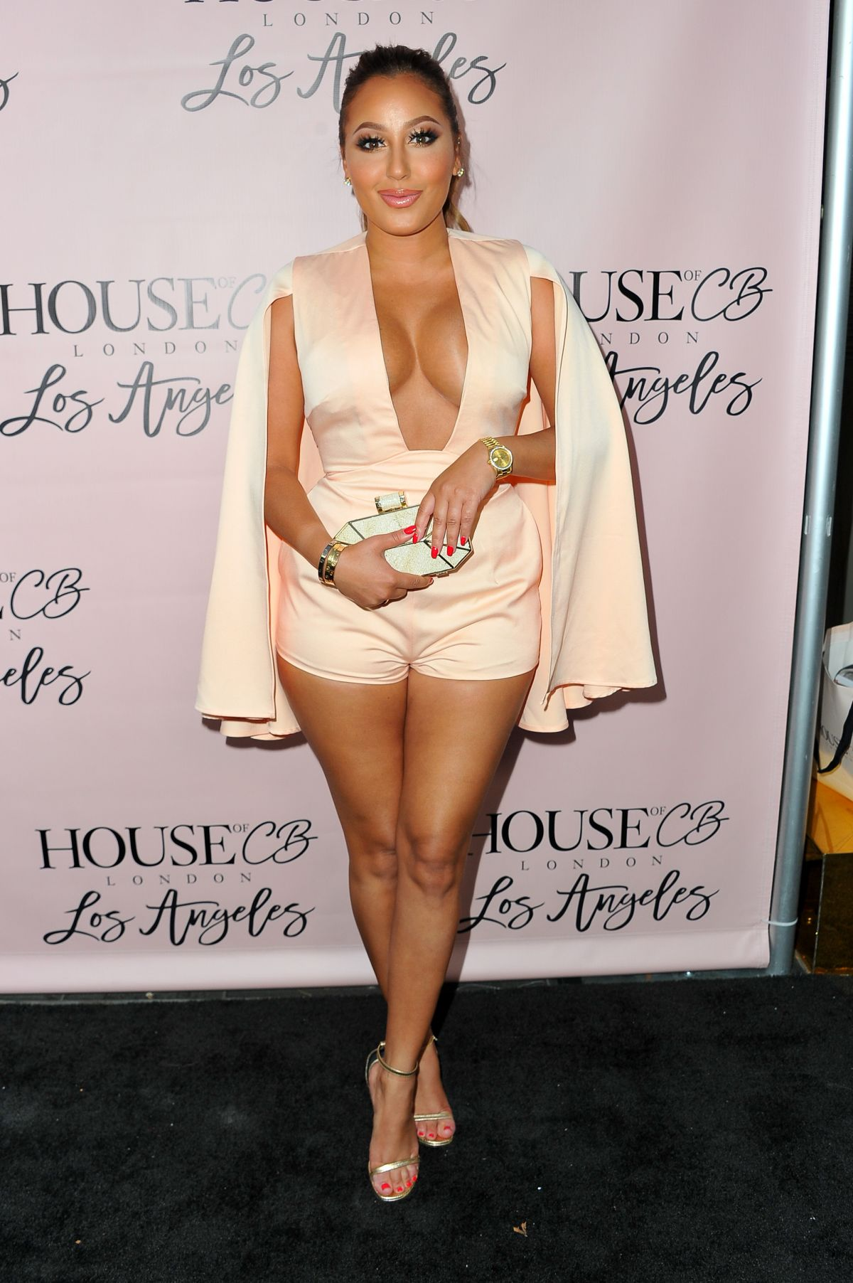 ADRIENNE BAILON at House of CB Flagship Store Launch in West Hollywood 06/14/2016