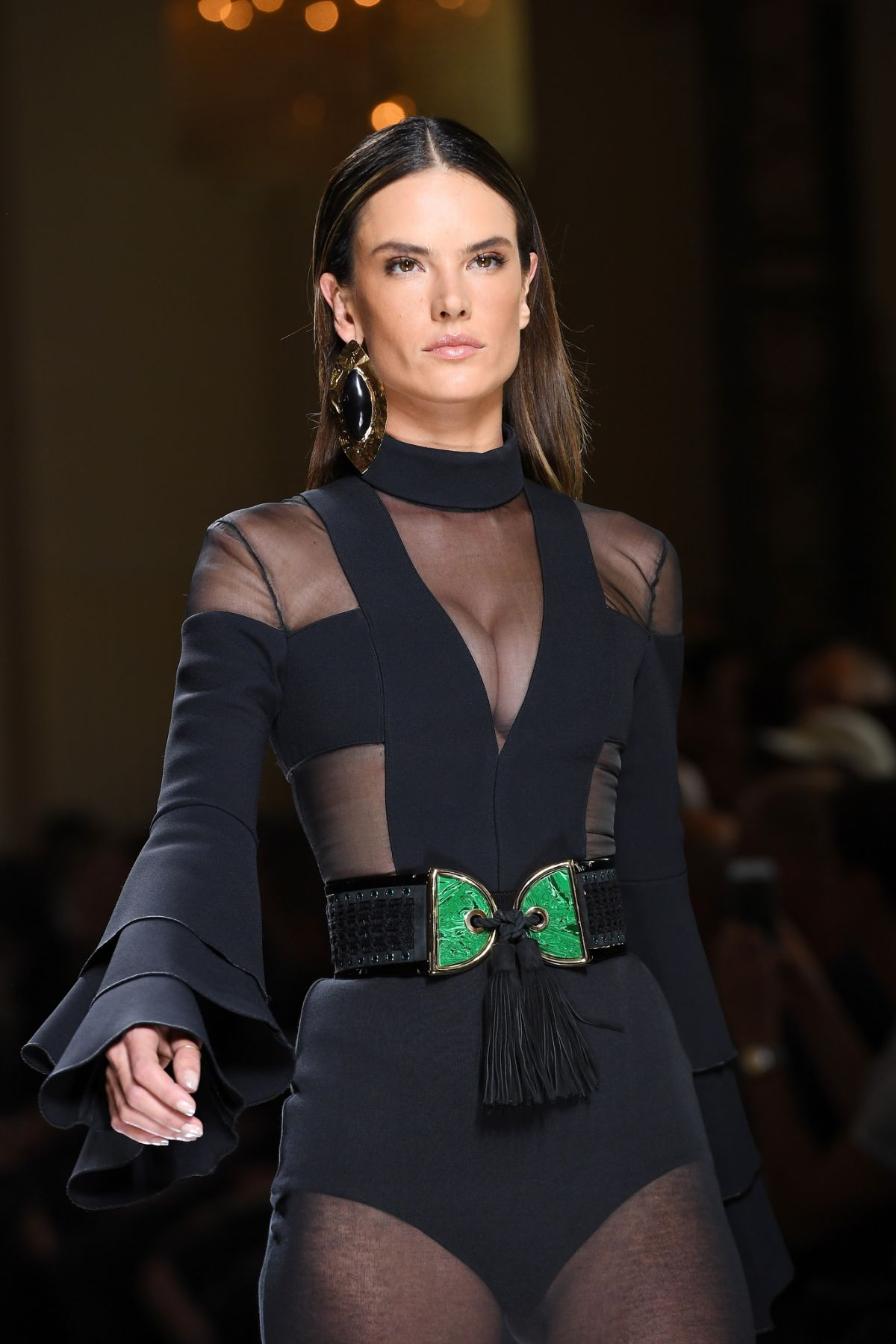 ALESSANDRA AMBROSIO  at Balmain Runway at Paris Fashion Week 06/25/2016