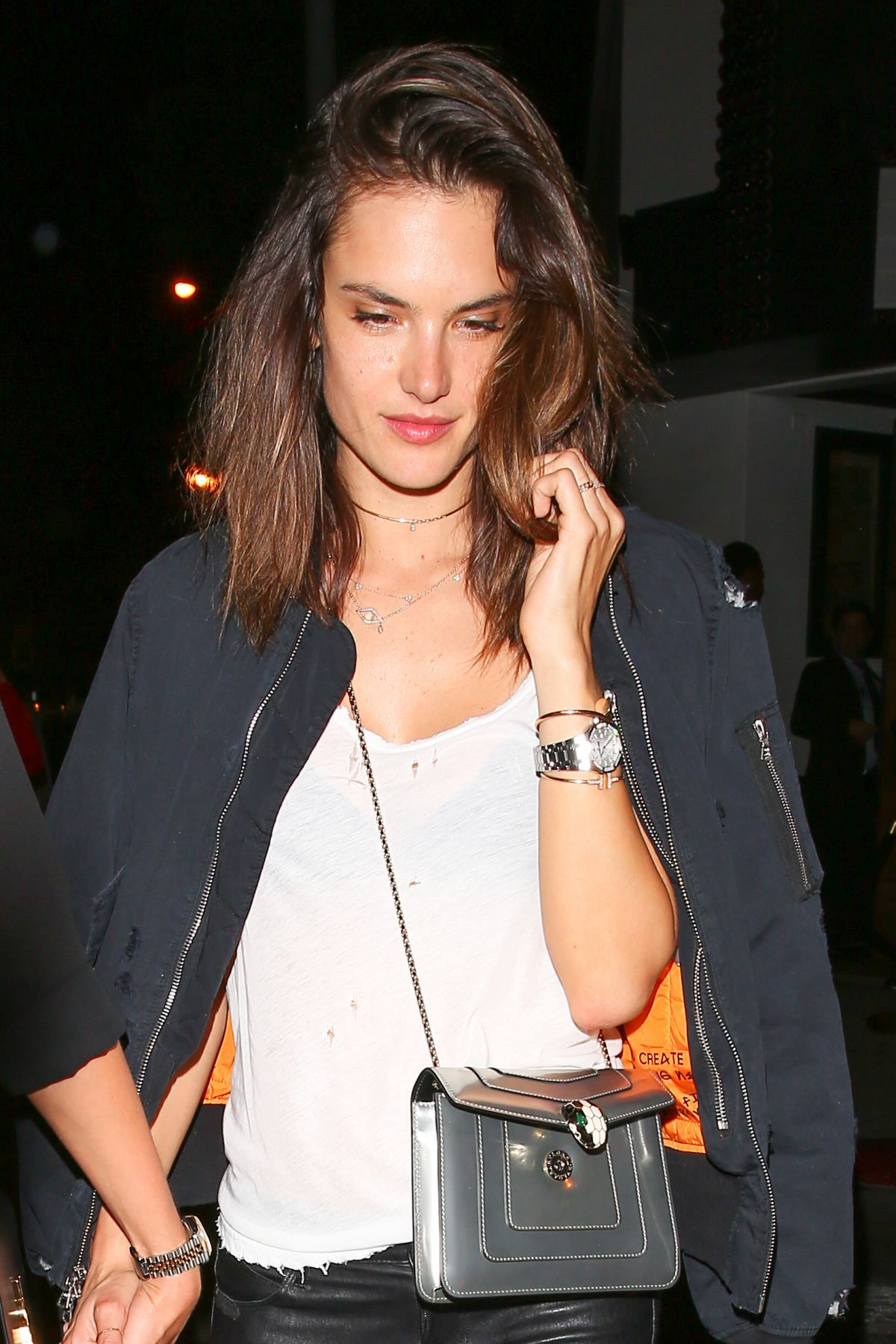ALESSANDRA AMBROSIO Night Out in West Hollywood 06/03/2016 ...