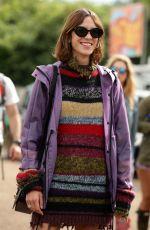 ALEXA CHUNG at 2016 Glastonbury Festival at Worthy Farm in Glastonbury 06/25/2016