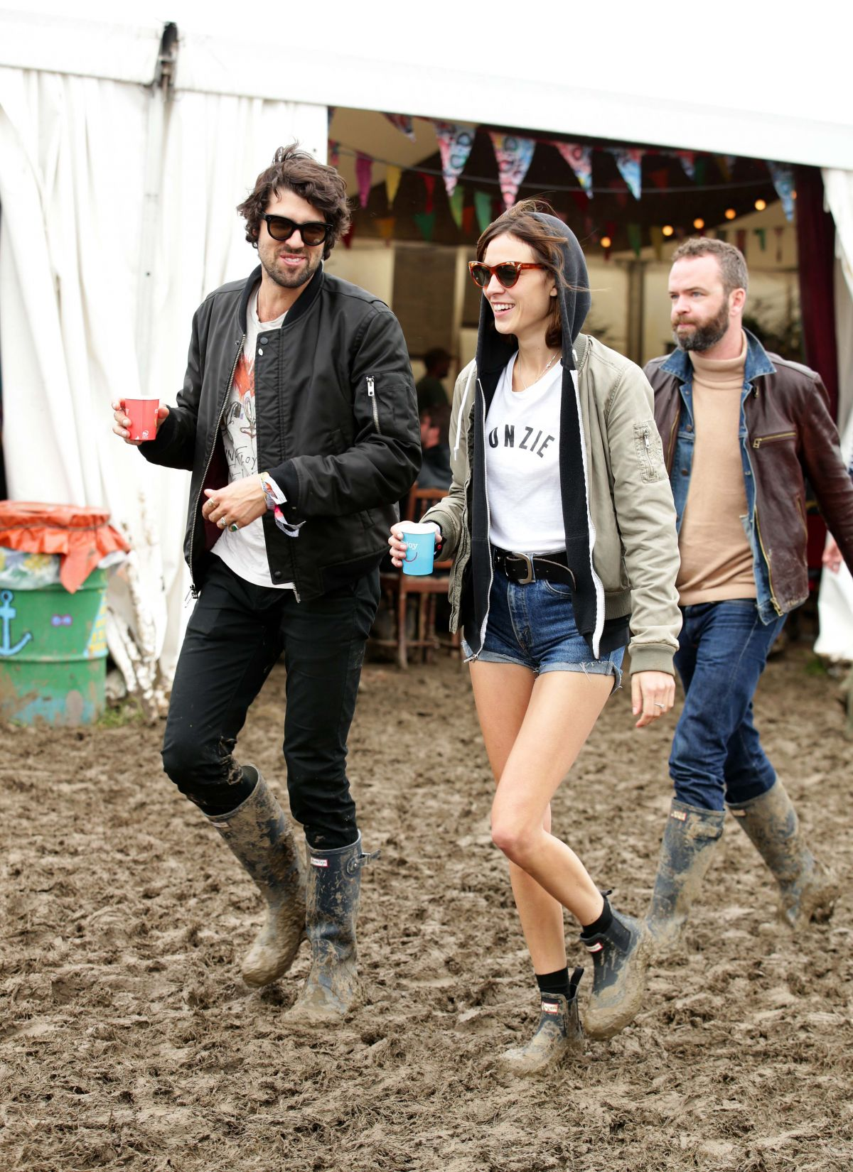 ALEXA CHUNG at 2016 Glastonbury Festival at Worthy Farm in Somerset 06/26/2016