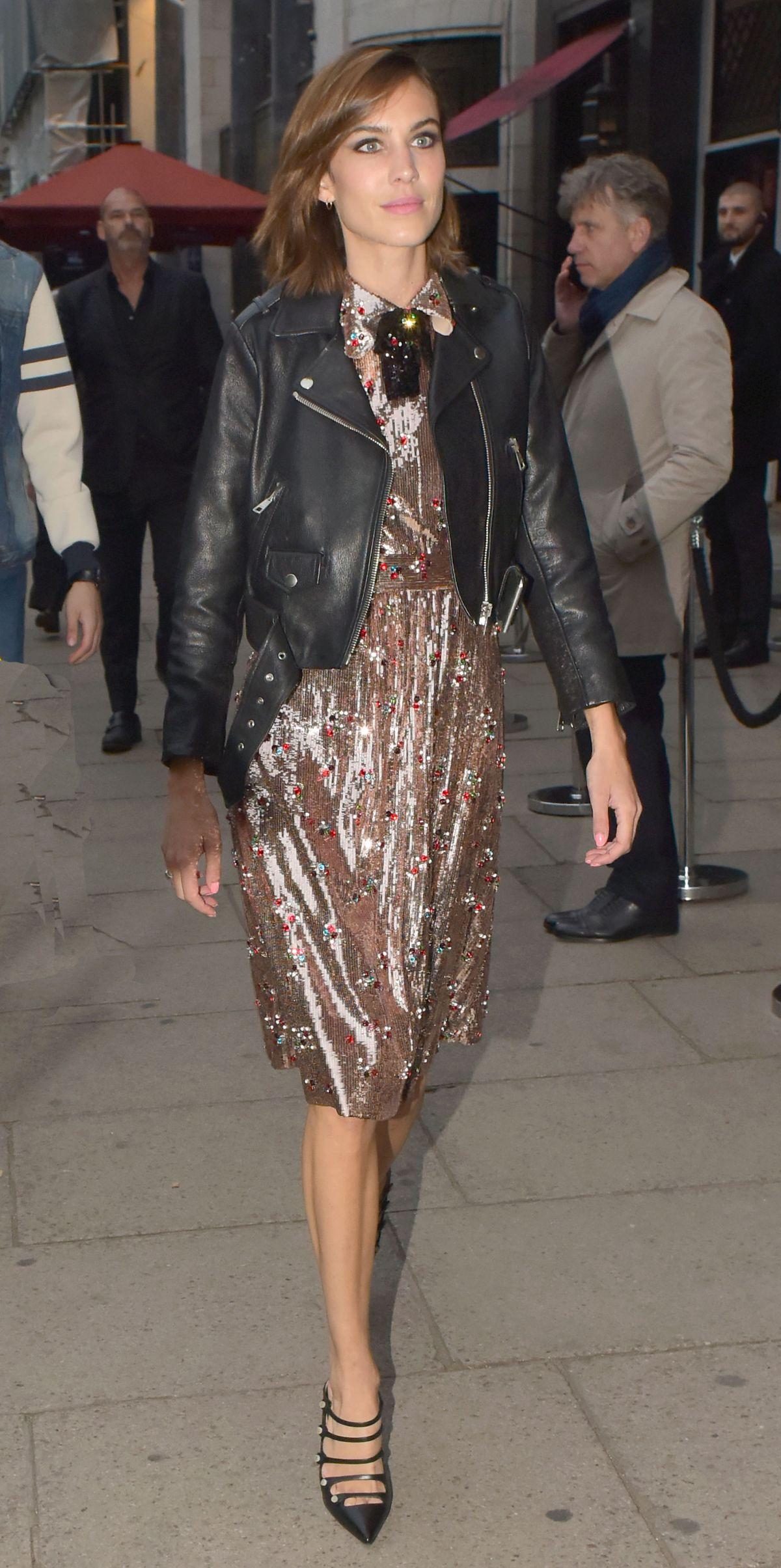 ALEXA CHUNG at Gucci Party in London 06/02/2016