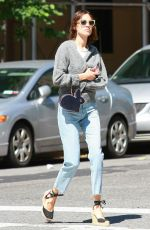 ALEXA CHUNG in Jeans Out in New York 06/09/2016