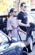 ALICIA VIKANDER and Michael Fassbender Leaves Chiswick Restaurant in Sydney 06/09/2016