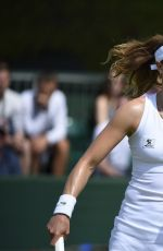 ALIZE CORNET at 1st Round at Wimbledon Tennis Championships in London 06/27/2016