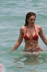 ALYSSA JULYA SMITH in Bikini on the Beach in Miami 06/18/2016