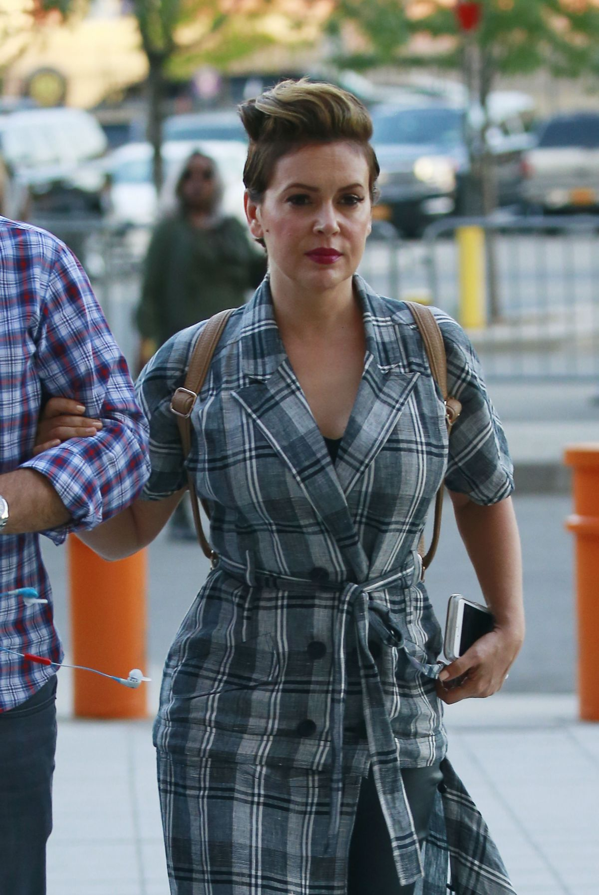 ALYSSA MILANO Arrives at Beyonce