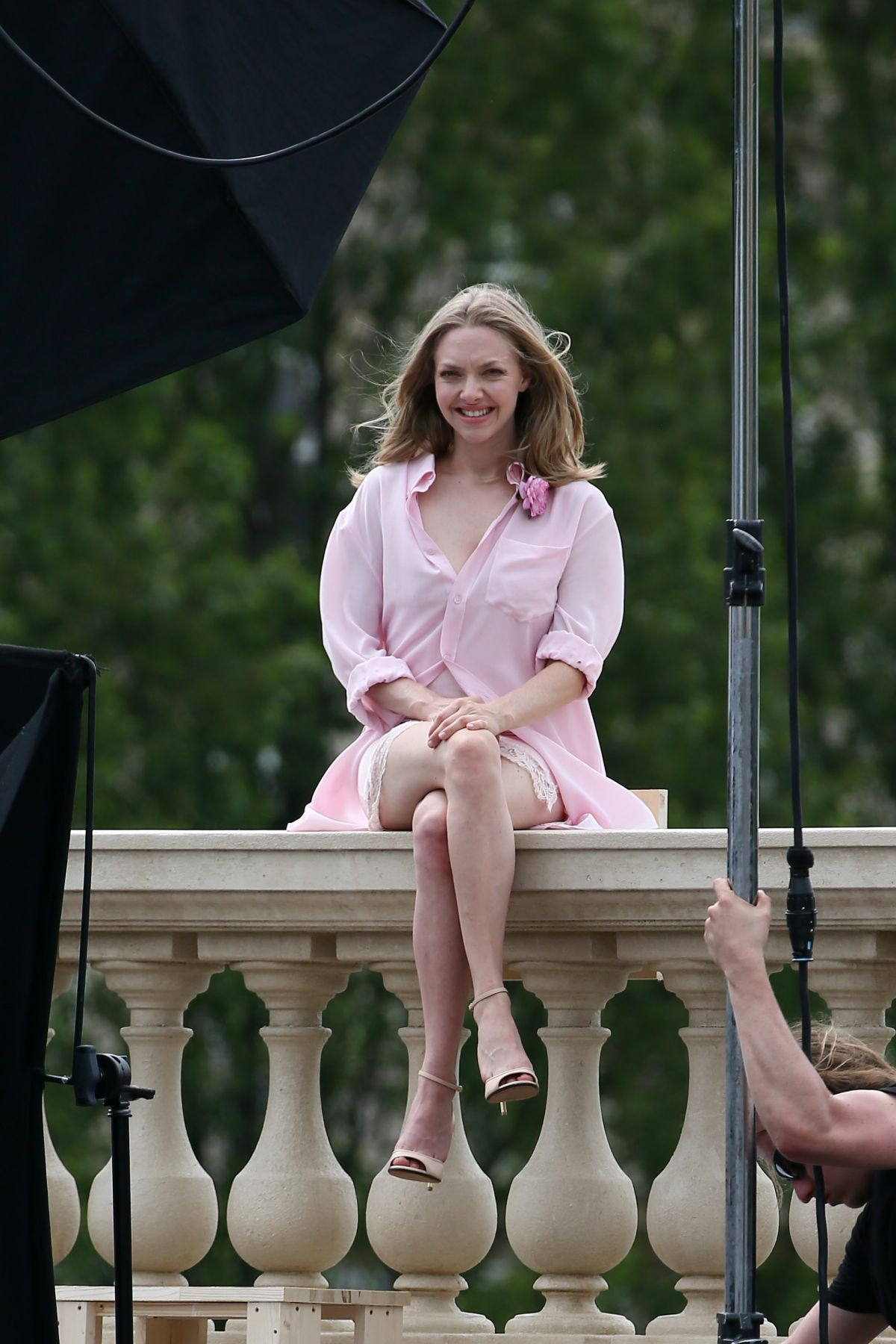 AMANDA SEYFRIED on the Set of a Photoshoot in Paris 06/22/2016