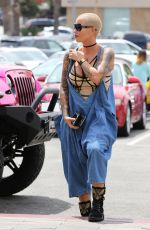 AMBER ROSE at Cheesecake Factory in Canoga Park 06/10/2016