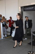 ANGELINA JOLIE at LAX Airport in Los Angeles 06/21/2016