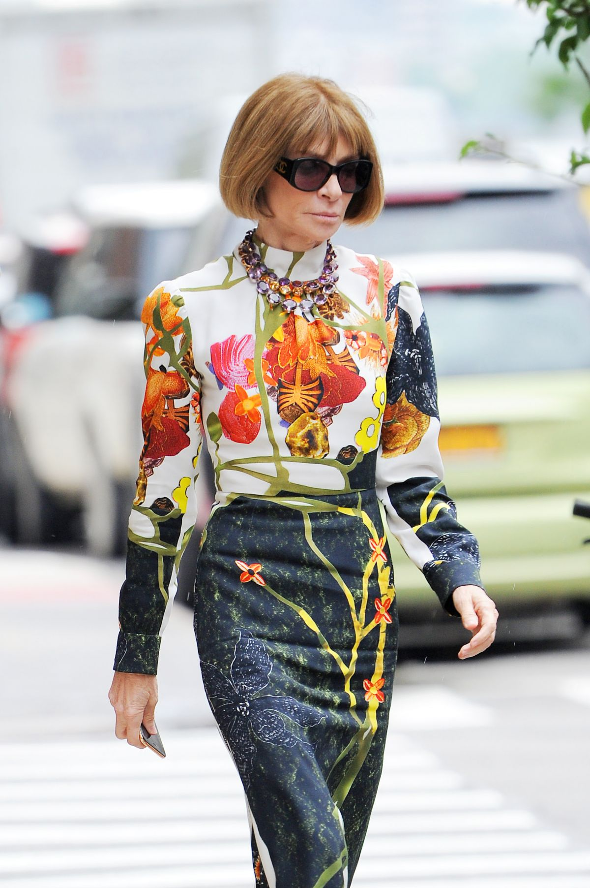 Anna Wintour Banned Ariana Grande From Wearing Ponytail: ANNA WINTOUR Out In New York 06/16/2016
