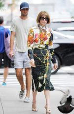ANNA WINTOUR Out in New York 06/16/2016
