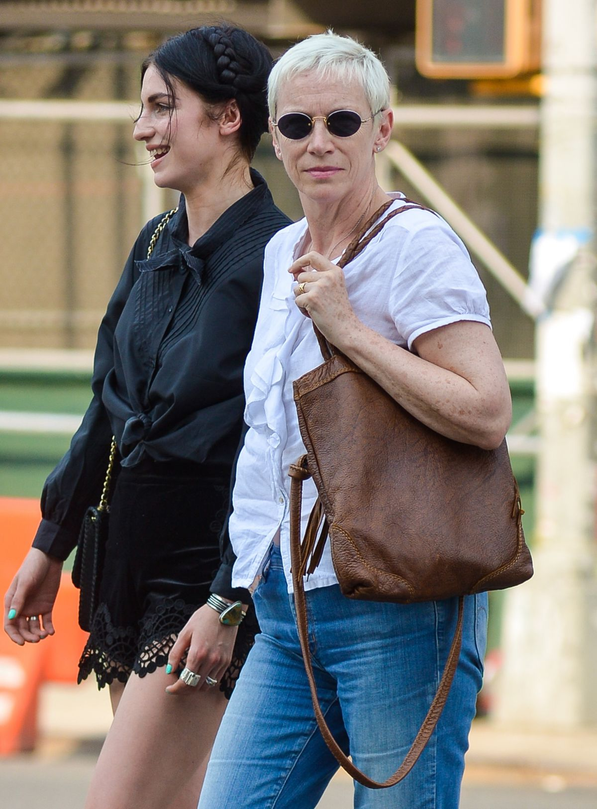 ANNIE LENNOX and Daughter TALI TAKE Out in Manhattan 06/11/2016