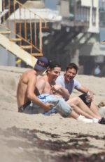 ASHLEY BENSON and VANESSA HUDGENS at a Beach in Malibu 06/05/2016