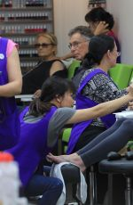 ASHLEY GREENE at a Nail Salon in Los Angeles 06/15/2016