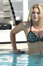 ASHLEY JAMES in Bikini at a Pool in Greece 06/21/2016