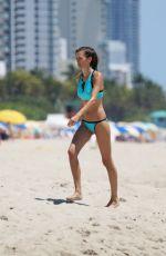 ASTRID BRYAN in Bikini on the Beach in Miami 06/25/2016